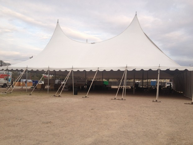 The CREATE tent at SXSW, pre-set up. This was where the magic happened, y'all!